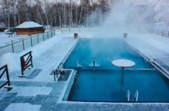 Отдых в термальных источниках зимой